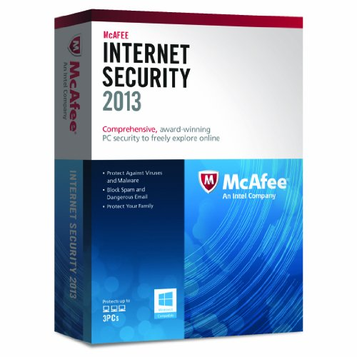 McAfee Internet Security  2013 - 3 PCs, 12 month Subscription (PC)