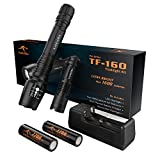 KANGORA High Powered Led Flashlight Tactical Kit with Extended Run-time, Rechargeable 18650 Battery, Ultra Bright, 5 Modes, Adjustable Focus Highest Lumens Camping Hiking Flashlights for Outdoor Sport