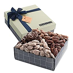 Gourmet Gift Tray, Nut Platter with Assorted Pecan Selection, Featuring Pralines, Roasted Salted Pecans, and More, 1.5 Lbs, By Benevelo Gifts