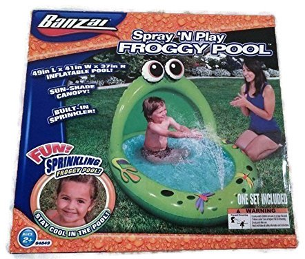 Spray 'N Play Froggy Pool by Banzai