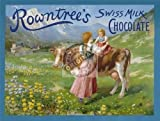 Jumbo Size Rowntree's Swiss Milk Chocolate Metal Enamel Advertising Wall Sign 700mm x 500mm