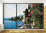 Lake Como Italy Window View Wallpaper Mural