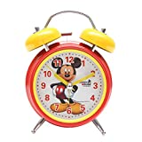 Bazaar Pirates Mickey Alarm Clock, Old Age, Old Fashioned, Kids Room Table Clock (Steel) (Yellow-Red)