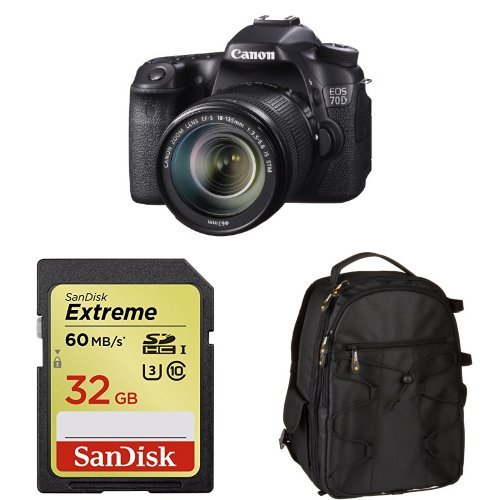 Canon Eos 70D With 18-135Mm Lens + Free Accessories