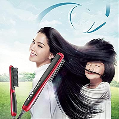 Electric Hair Straightener Brush Comb Detangling Straightening Irons Hair Brush Hair Straightener Comb DIY Youself Hair Style