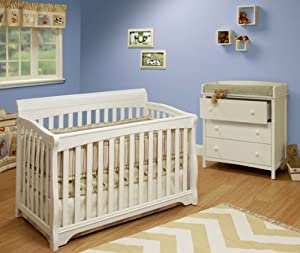 Sorelle Florence Crib with Mini Rail, White