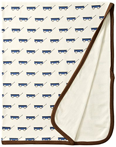 L'ovedbaby Unisex-Baby Newborn Organic Swaddling Blanket, Slate Wagon, One Size - 1