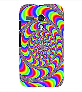 ColourCraft Colour Pattern Back Case Cover for MOTOROLA MOTO G X1032