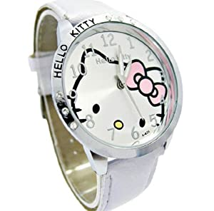 Montre Hello Kitty Argentée Blanc par hello kitty montre
