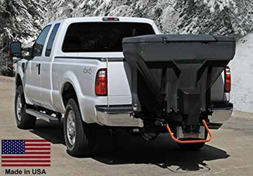 Spreader-Commercial-Salt-Sand-Tailgate-Mounted-V-Box-wAuger-825-Lb-Cap