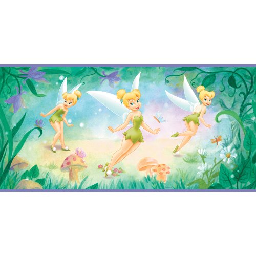 Imperial Disney Home DF059271B Tinkerbell Flower Border, Purple 10.25-Inch Wide - 1