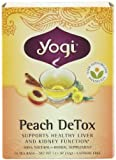 Yogi Peach DeTox Tea, 16 Tea Bags (Pack of 6)