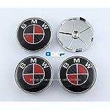 D&R® Set Of 4 pcs 68mm Carbon Fiber Wheel Center Caps Hubcaps For BMW (Color2)