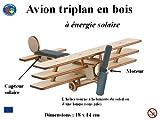 Avion Triplan en bois à énergie solaire, maquette à monter...