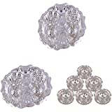 GS MUSEUM Silver Plated Rani Kumkum Plate 2 Sets And Silver Plated Set Of 6 Round Incense Stand
