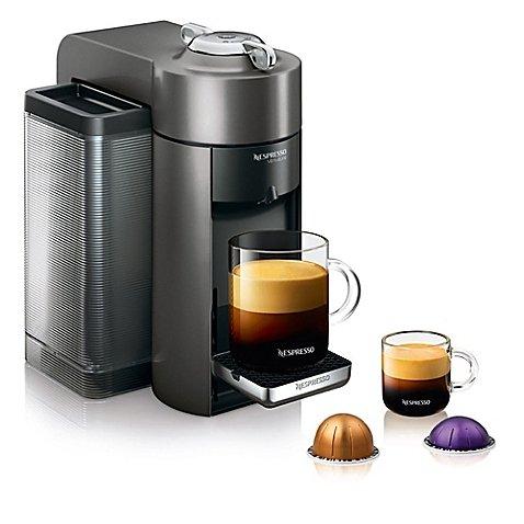 Nespresso VertuoLine Evoluo Coffee and Espresso Maker in Grey - Steel and Plastic Construction (Nespresso K Cups compare prices)