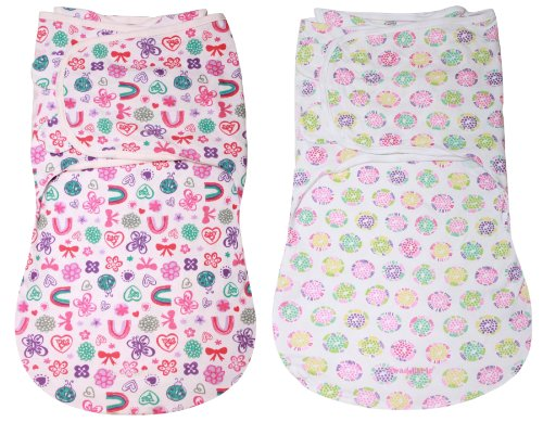 Summer Infant Swaddleme Wrapsack Blanket 2-Pack, Large, Flowers front-570425