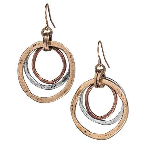 handmade-sunrise-earrings-of-earth-and-ocean-burnished-circles-copper-brass-and-silverplated