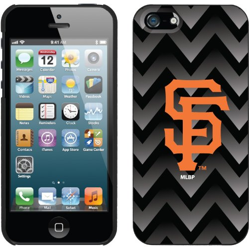 Great Sale San Francisco Giants - Gradient Chevron design on a Black iPhone 5s / 5 Thinshield Snap-On Case by Coveroo