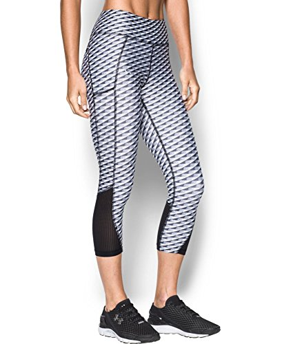 Under Armour Women's Fly-By Printed Capri, Black (009), Small