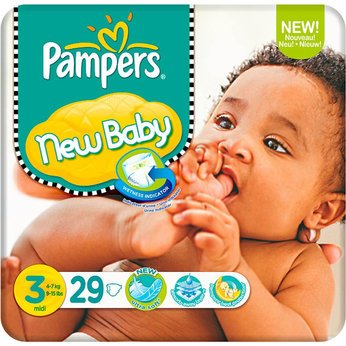 Geniusly Pampers New Baby Nappies Carry Pack Size 3 (29s) - Cleva Edition ChildSAFE Door Stopz Bundle