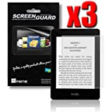 "Fintie 3 Pack Ultra-Clear Screen Protector With Retail Package for All-New Amazon Kindle Paperwhite (Fits All versions: 2012, 2013, 2014 and 2015 All-New 300 PPI Versions with 6"" Display and Built-in Light) and Kindle (7th Generation 2014 Model) Tablet"