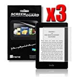 Fintie 3 Pack Ultra-Clear Screen Protector With Retail Package for Amazon Kindle Paperwhite Tablet (will only fit Kindle Paperwhite)