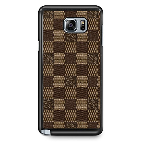 Gebleg-The Best squarebrown pattern Design For Samsung Galaxy Note 5 Case Black Hard Plastic Case (Louis Vuitton Samsung compare prices)