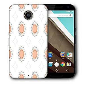 Snoogg Cream Floral Designer Protective Phone Back Case Cover For Motorola Nexus 6