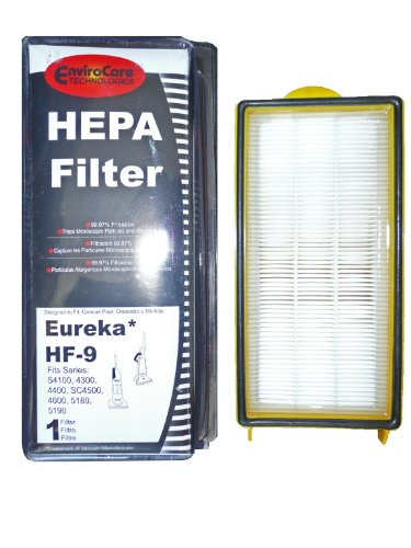 (1) 60285 Eureka HF9 Hepa Pleated Vacuum Filter, Bagless Cyclonic, Heavy Duty Upright, Self Propelled, Cleaner & Cyclonic, Limited Edition, Victory ACSA, Cleaner, Cyclonic, Hepa, Powerline Limited, Whirlwind, Boss, Smart Vac, Sanitaire Commercial Vacuum cleaners, 60285A, 60285B, 60285C, 60285D (Vacuum Cleaner Self Propelled compare prices)