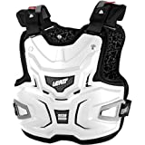 Leatt Adventure Lite Adult Chest Protector Dirt Bike Motorcycle Body Armor - White / One Size