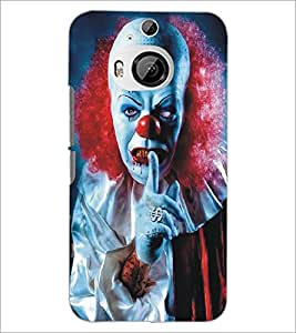 PrintDhaba Scary Face D-5379 Back Case Cover for HTC ONE M9 PLUS (Multi-Coloured)