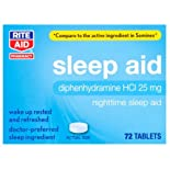 Rite Aid Sleep Aid, Nighttime, 72 tablets