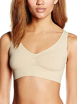 MISS BODY Sujetador Reductor Sin Aros Control Firme (Beige)