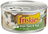 Friskies Cat Food Flaked with Tuna & Egg in Sauce, 5.5-Ounce Cans (Pack of 24)