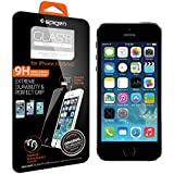 iPhone 5S Screen Protector, Spigen® iPhone 5S / 5C / 5 Screen Protector [GLAS.tR SLIM] Rounded Edges iPhone 5S / 5C / 5 Glass Screen Protector - (SGP10111)