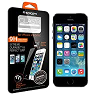 iPhone 5S Screen Protector, Spigen® iPhone 5S / 5C / 5 Screen Protector [GLAS.tR SLIM] Rounded Edges…