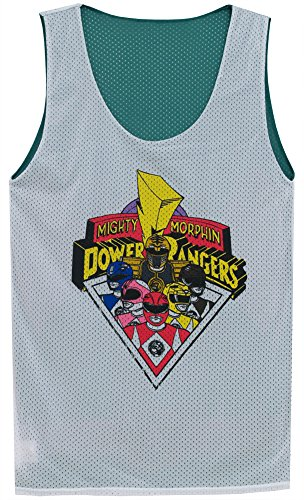 Mighty Fine The Mighty Morphin Power Rangers Black Ranger Mens Reversible Jersey