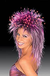 Fiber Optic Wig Purple Fiber Optic Wig Purple