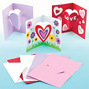Children 39 s craft heart pop out cards for kids for Mothers day cards from preschoolers