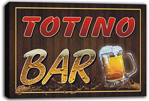 scw3-048764-totino-name-home-bar-pub-beer-mugs-stretched-canvas-print-sign