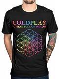 Coldplay A Head Full of Dreams Mens Black T-Shirt Tee (Medium)