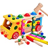Aladdin Disassembly Nut Combination Cars Wooden Educational Toys For Child