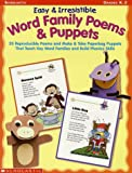img - for Easy & Irresistible Word Family Poems & Puppets (Word Family (Scholastic)) book / textbook / text book