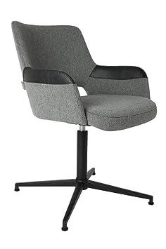Sillón design ARMCHAIR SYL-zuiver, tela, negro, 61x57x81,5 cm