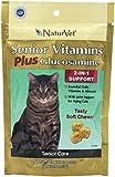 NaturVet 50 Count Senior Cat Vitamin Plus Glucosamine 2-in-1 Soft Chew