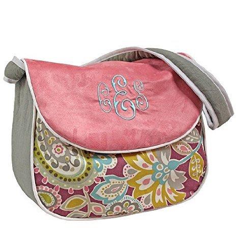 Hoohobbers Messenger Diaper Bag, Pink Flirty Flowers
