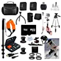 Gopro Everything You Need Package for GoPro Hero3+ Kit Includes: Outdoors Kit with Arm Mount & Flat Surface Mount + 5 PC. GoPro Filter Kit + Tripod + Monopod + 2 Extra Batteries + 16GB Memory + Case & More All in One Bundle