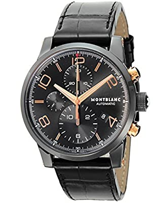 [Mont Blanc] MONTBLANC watch TIME WALKER Black Dial Automatic Chronograph 105805 Men's parallel import goods]