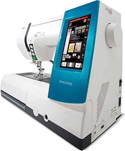 Alfa MC 9900 - Máquina de coser y bordar (200 puntadas, 175 diseños de bordado, pantalla táctil), color blanco y azul